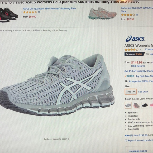 new product 698a2 a945e Asics Gel-Quantum 360 Shift Running Shoes size 9.5